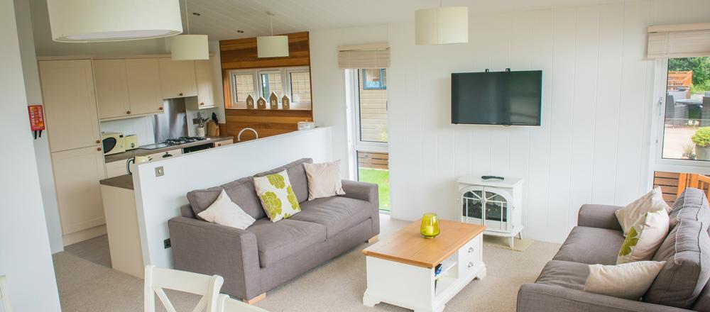Drake lodge kitchen and lounge