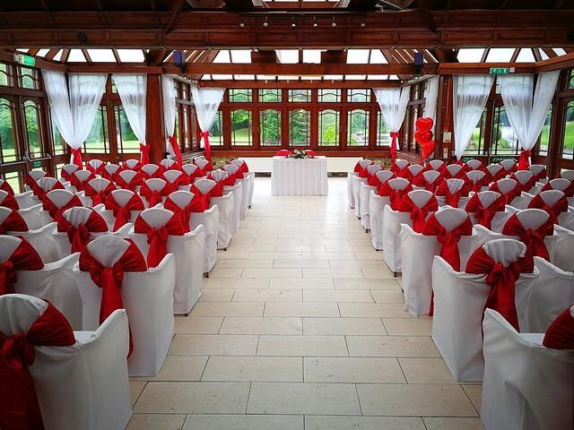 A romantic valentine wedding ceremony