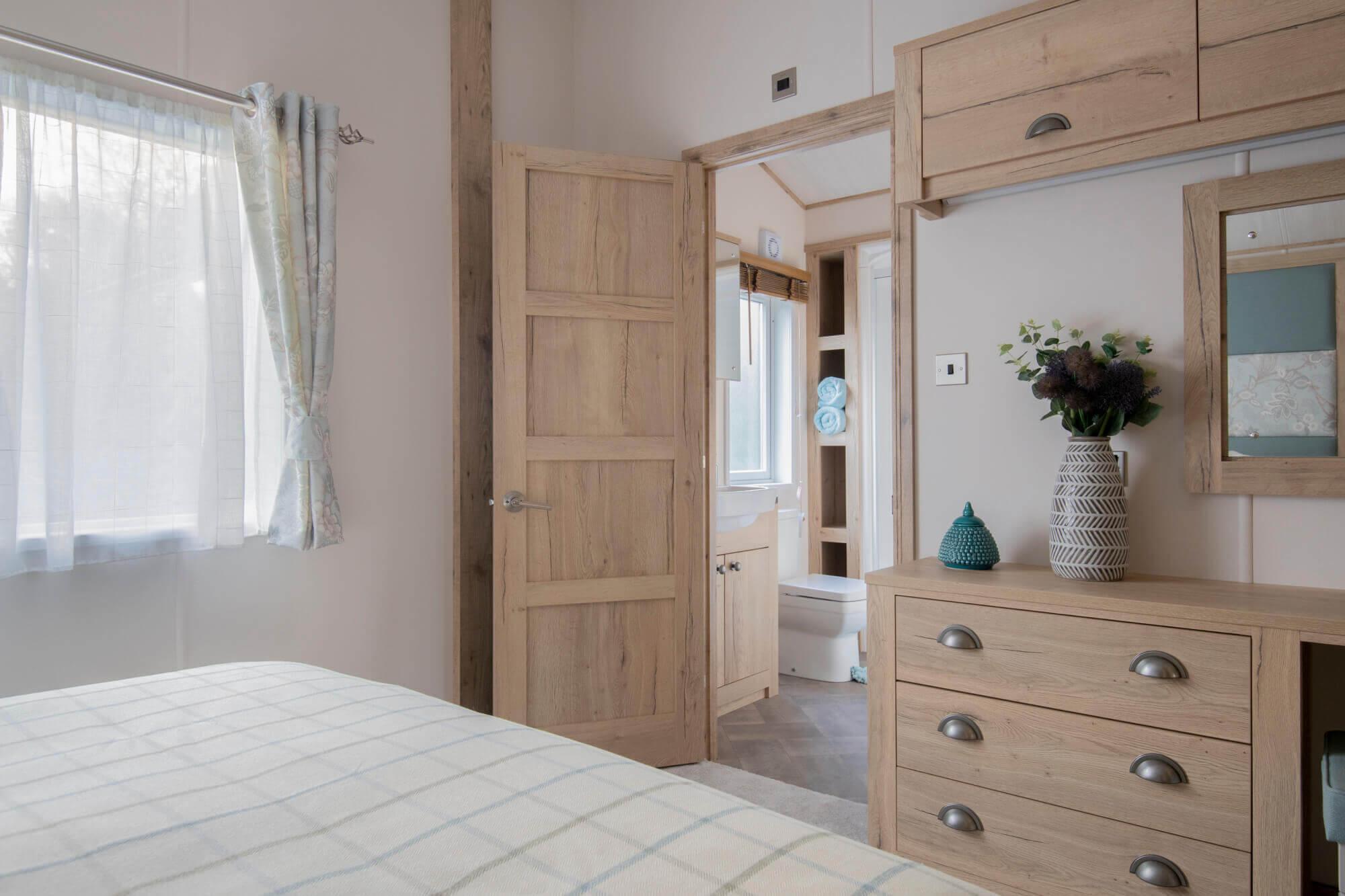 ABI Harrogate master bedroom with ensuite bathroom