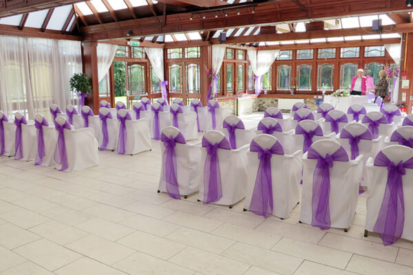 The garden room - ready for the ceremony