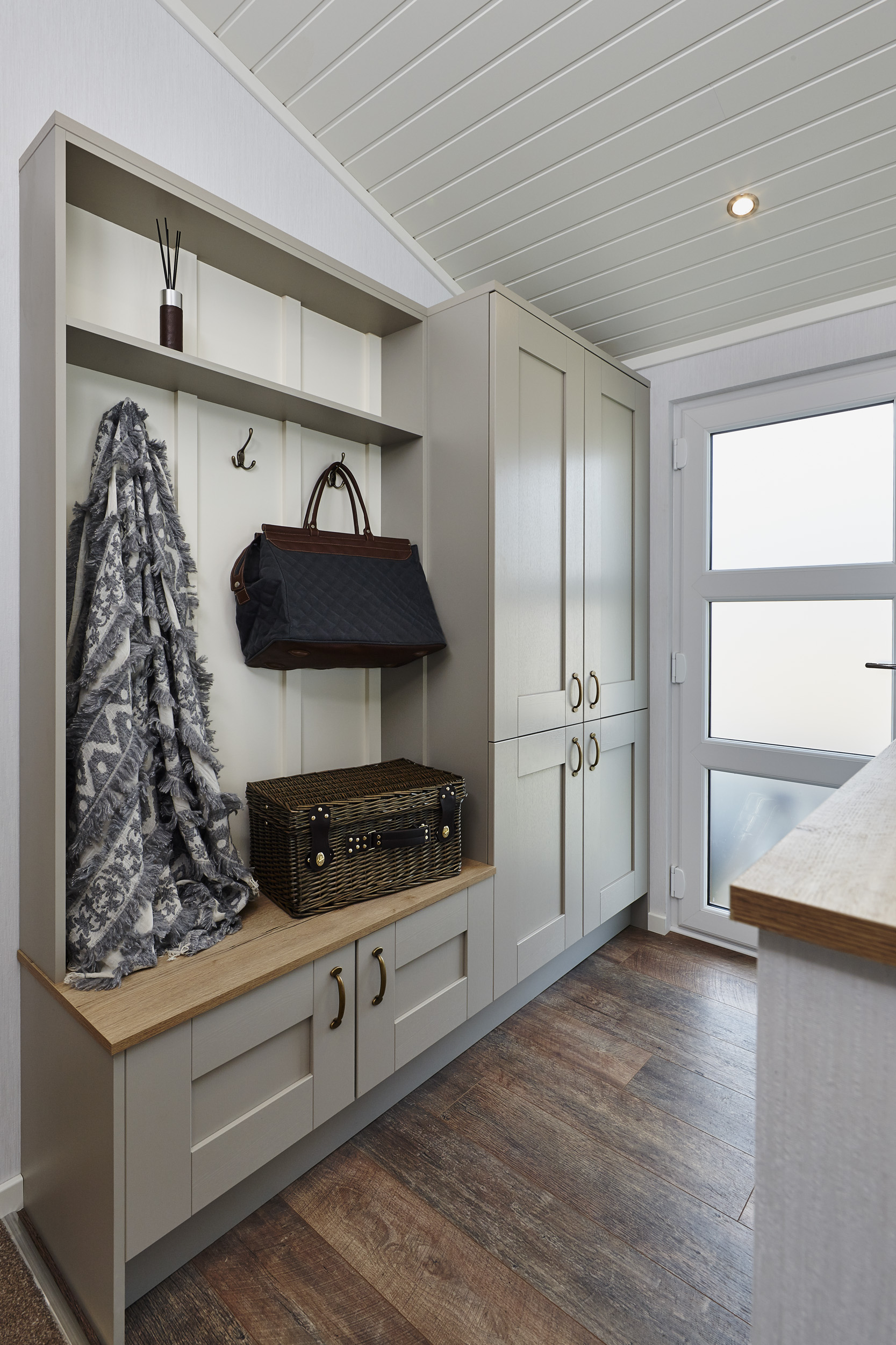 The Muskoka lodge, Entrance view with cloakroom & storage