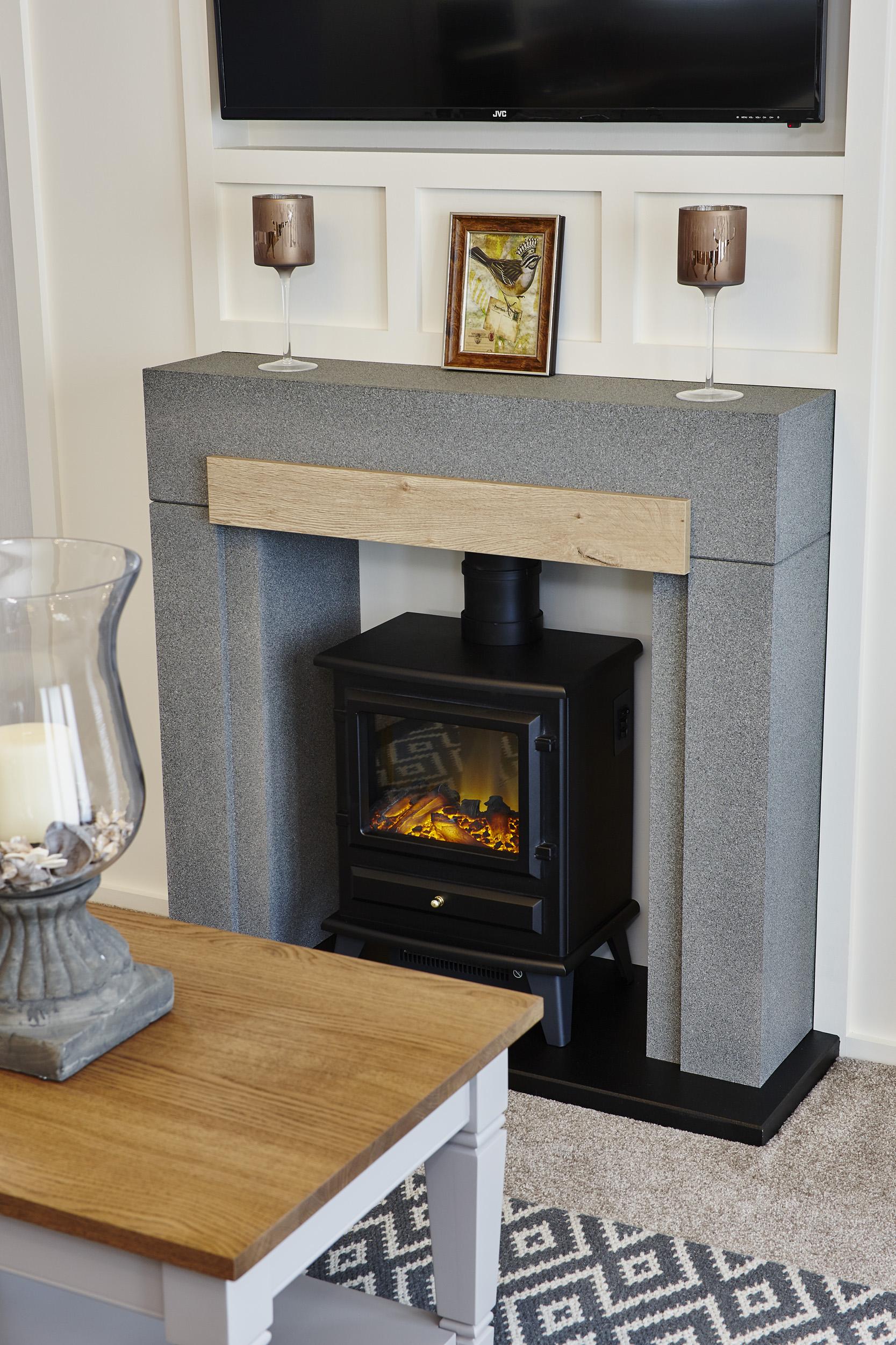 The Muskoka lodge, fireplace